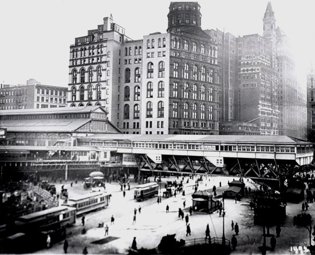 (222k, 1024x830)<br><b>Country:</b> United States<br><b>City:</b> New York<br><b>System:</b> New York City Transit<br><b>Line:</b> BMT Fulton<br><b>Location:</b> City Hall/Park Row <br><b>Collection of:</b> George Conrad Collection<br><b>Viewed (this week/total):</b> 0 / 2047