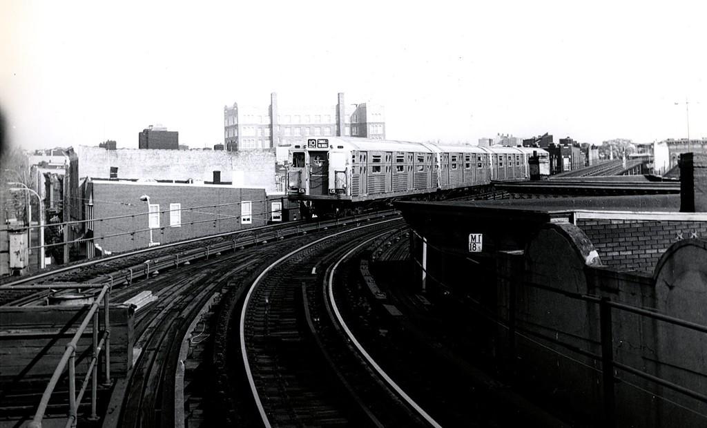 (136k, 1024x620)<br><b>Country:</b> United States<br><b>City:</b> New York<br><b>System:</b> New York City Transit<br><b>Line:</b> BMT Myrtle Avenue Line<br><b>Location:</b> Seneca Avenue <br><b>Route:</b> Fan Trip<br><b>Car:</b> R-11 (Budd, 1949)  <br><b>Collection of:</b> George Conrad Collection<br><b>Date:</b> 11/18/1967<br><b>Viewed (this week/total):</b> 0 / 1720