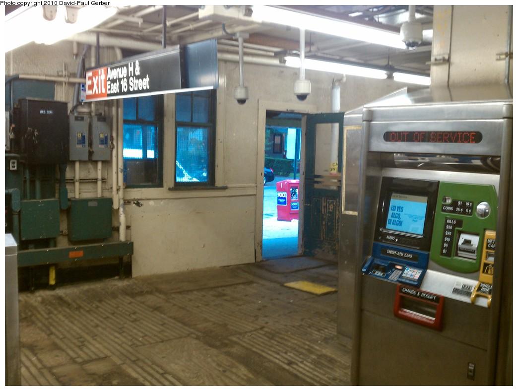 (216k, 1044x788)<br><b>Country:</b> United States<br><b>City:</b> New York<br><b>System:</b> New York City Transit<br><b>Line:</b> BMT Brighton Line<br><b>Location:</b> Avenue H <br><b>Photo by:</b> David-Paul Gerber<br><b>Date:</b> 9/24/2010<br><b>Notes:</b> Stationhouse closing after today for full-scale restoration.<br><b>Viewed (this week/total):</b> 1 / 1029