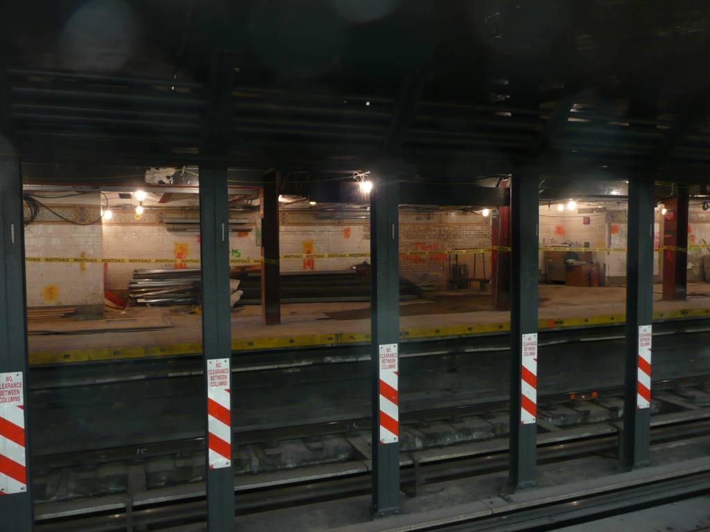 (94k, 1024x768)<br><b>Country:</b> United States<br><b>City:</b> New York<br><b>System:</b> New York City Transit<br><b>Line:</b> BMT Broadway Line<br><b>Location:</b> Cortlandt Street-World Trade Center <br><b>Photo by:</b> Robbie Rosenfeld<br><b>Date:</b> 10/5/2010<br><b>Notes:</b> Station renovation.<br><b>Viewed (this week/total):</b> 2 / 1288