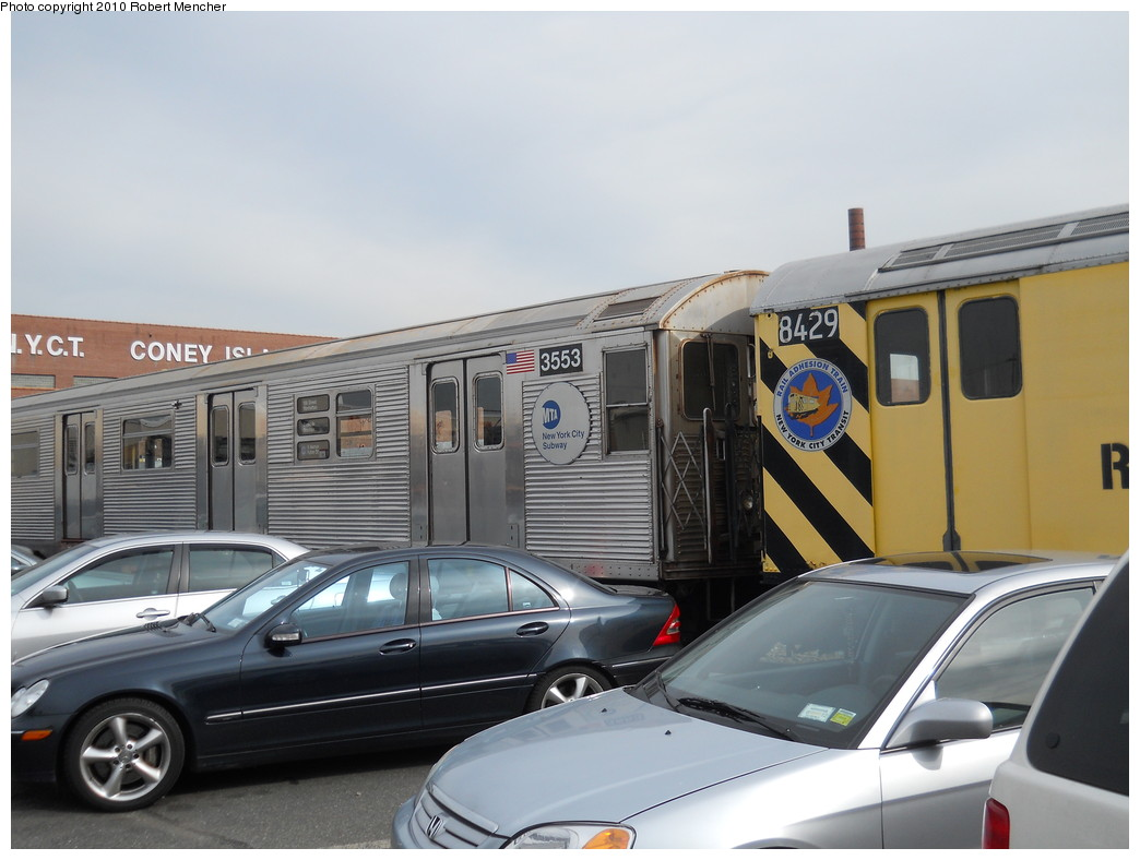 (224k, 1044x788)<br><b>Country:</b> United States<br><b>City:</b> New York<br><b>System:</b> New York City Transit<br><b>Location:</b> Coney Island Yard<br><b>Car:</b> R-32 (Budd, 1964)  3553 <br><b>Photo by:</b> Robert Mencher<br><b>Date:</b> 10/20/2010<br><b>Viewed (this week/total):</b> 0 / 813