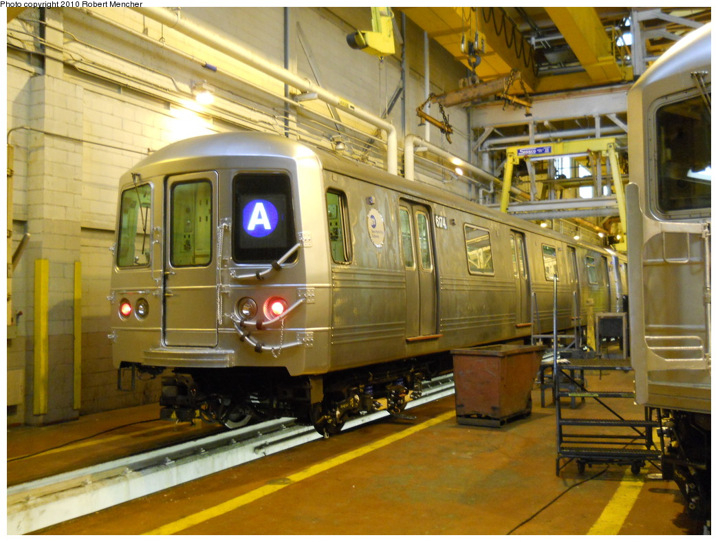 (296k, 1044x788)<br><b>Country:</b> United States<br><b>City:</b> New York<br><b>System:</b> New York City Transit<br><b>Location:</b> Coney Island Shop/Overhaul & Repair Shop<br><b>Car:</b> R-46 (Pullman-Standard, 1974-75) 6074 <br><b>Photo by:</b> Robert Mencher<br><b>Date:</b> 10/20/2010<br><b>Viewed (this week/total):</b> 1 / 1060