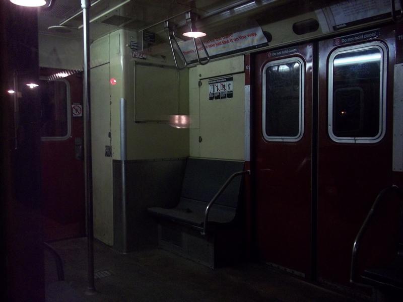 (39k, 800x600)<br><b>Country:</b> United States<br><b>City:</b> New York<br><b>System:</b> New York City Transit<br><b>Route:</b> Work Service<br><b>Car:</b> R-28 (American Car & Foundry, 1960-61) 7924 <br><b>Photo by:</b> Christopher Henderson<br><b>Date:</b> 10/23/2010<br><b>Notes:</b> Rail Adhesion Train. Interior.<br><b>Viewed (this week/total):</b> 0 / 1273