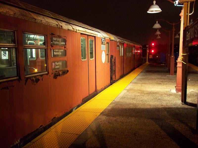 (66k, 800x600)<br><b>Country:</b> United States<br><b>City:</b> New York<br><b>System:</b> New York City Transit<br><b>Line:</b> IRT White Plains Road Line<br><b>Location:</b> East 180th Street <br><b>Route:</b> Work Service<br><b>Car:</b> R-28 (American Car & Foundry, 1960-61) 7924 <br><b>Photo by:</b> Christopher Henderson<br><b>Date:</b> 10/23/2010<br><b>Notes:</b> Rail Adhesion train.<br><b>Viewed (this week/total):</b> 0 / 1346