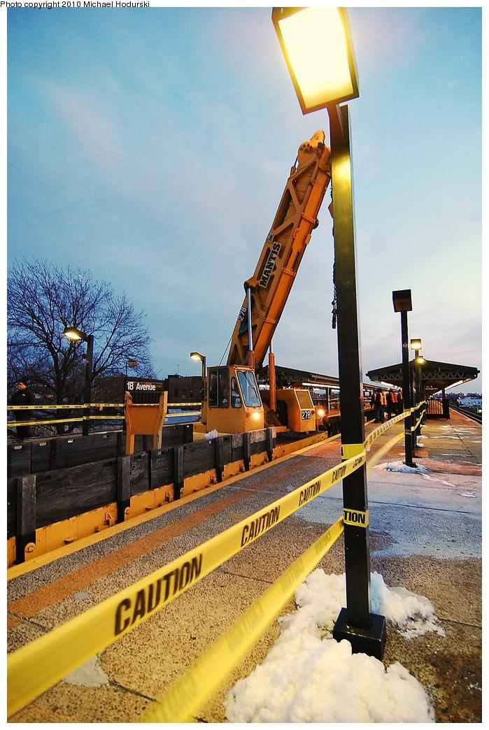 (270k, 699x1044)<br><b>Country:</b> United States<br><b>City:</b> New York<br><b>System:</b> New York City Transit<br><b>Line:</b> BMT Culver Line<br><b>Location:</b> 18th Avenue <br><b>Route:</b> Work Service<br><b>Car:</b> R-113 Crane Car  270 <br><b>Photo by:</b> Michael Hodurski<br><b>Date:</b> 1/2/2010<br><b>Viewed (this week/total):</b> 1 / 897