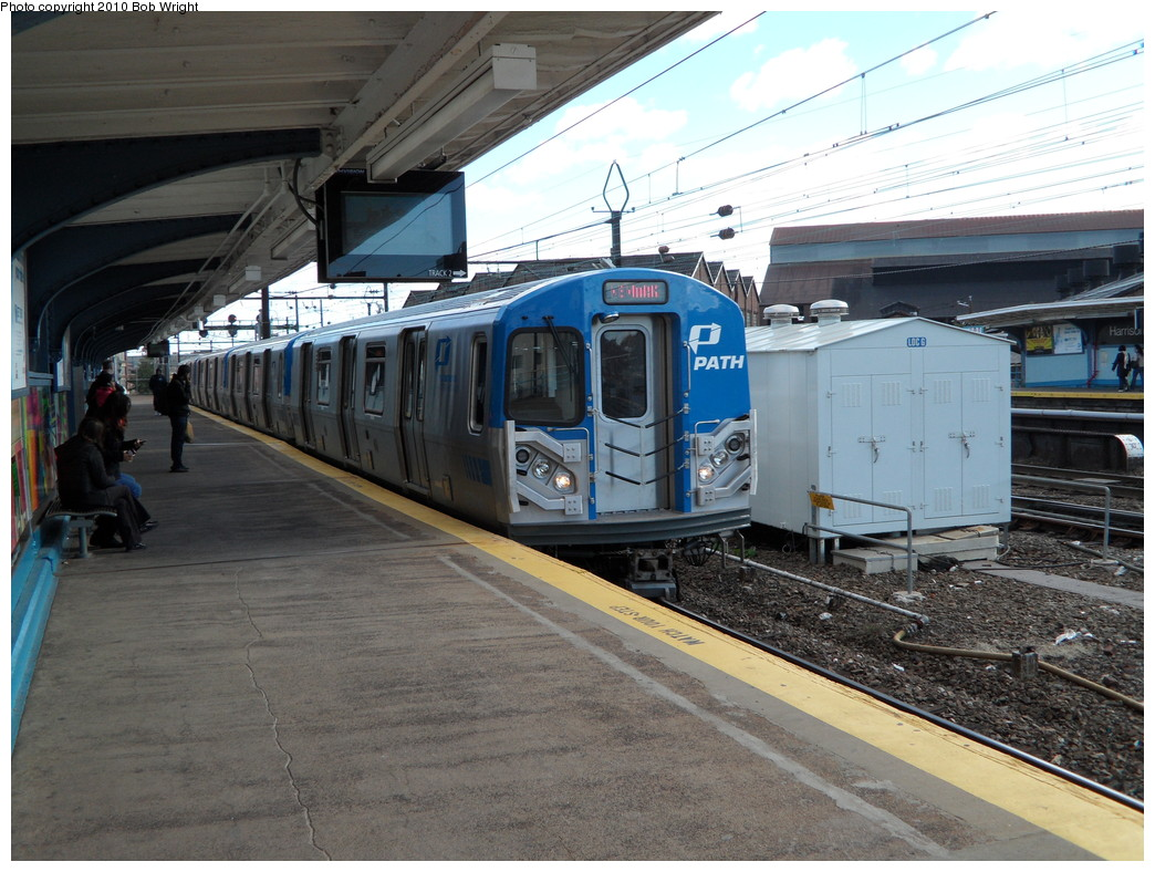 (256k, 1044x788)<br><b>Country:</b> United States<br><b>City:</b> Harrison, NJ<br><b>System:</b> PATH<br><b>Location:</b> Harrison <br><b>Car:</b> PATH PA-5 (Kawasaki, 2009-2011) 5704 <br><b>Photo by:</b> Bob Wright<br><b>Date:</b> 10/16/2010<br><b>Viewed (this week/total):</b> 0 / 1446