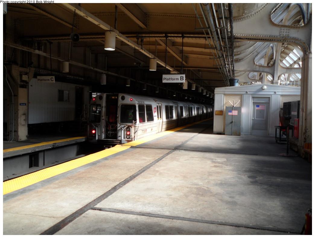 (208k, 1044x788)<br><b>Country:</b> United States<br><b>City:</b> Newark, NJ<br><b>System:</b> PATH<br><b>Location:</b> Newark (Penn Station) <br><b>Car:</b> PATH PA-1 (St. Louis Car, 1965)  708 <br><b>Photo by:</b> Bob Wright<br><b>Date:</b> 10/16/2010<br><b>Viewed (this week/total):</b> 0 / 1024