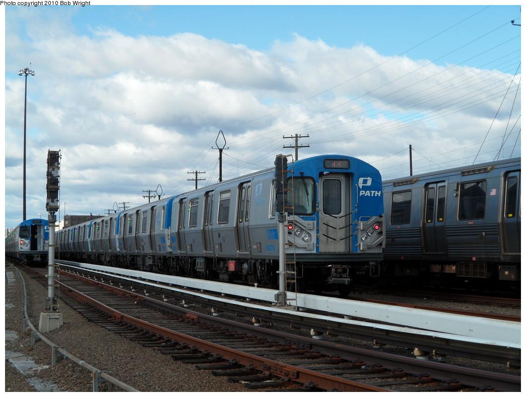 (231k, 1044x788)<br><b>Country:</b> United States<br><b>City:</b> Harrison, NJ<br><b>System:</b> PATH<br><b>Location:</b> Harrison Yard/Shop <br><b>Car:</b> PATH PA-5 (Kawasaki, 2009-2011) 5679 <br><b>Photo by:</b> Bob Wright<br><b>Date:</b> 10/16/2010<br><b>Viewed (this week/total):</b> 5 / 871