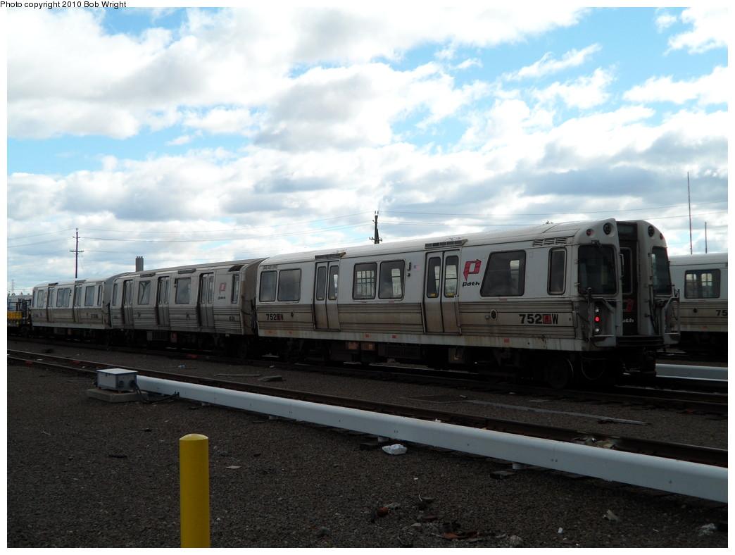 (196k, 1044x788)<br><b>Country:</b> United States<br><b>City:</b> Harrison, NJ<br><b>System:</b> PATH<br><b>Location:</b> Harrison Yard/Shop <br><b>Car:</b> PATH PA-3 (Hawker-Siddley, 1972)  752 <br><b>Photo by:</b> Bob Wright<br><b>Date:</b> 10/16/2010<br><b>Viewed (this week/total):</b> 0 / 732