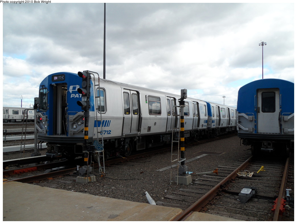 (203k, 1044x788)<br><b>Country:</b> United States<br><b>City:</b> Harrison, NJ<br><b>System:</b> PATH<br><b>Location:</b> Harrison Yard/Shop <br><b>Car:</b> PATH PA-5 (Kawasaki, 2009-2011) 5712 <br><b>Photo by:</b> Bob Wright<br><b>Date:</b> 10/16/2010<br><b>Viewed (this week/total):</b> 11 / 974