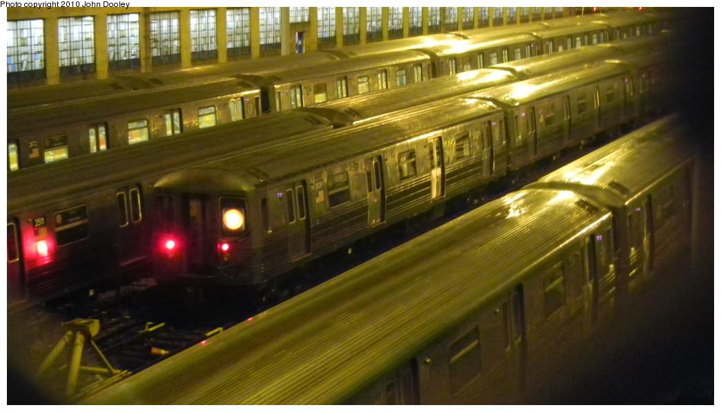 (214k, 1044x596)<br><b>Country:</b> United States<br><b>City:</b> New York<br><b>System:</b> New York City Transit<br><b>Location:</b> Concourse Yard<br><b>Car:</b> R-68 (Westinghouse-Amrail, 1986-1988)  2628 <br><b>Photo by:</b> John Dooley<br><b>Date:</b> 10/28/2010<br><b>Viewed (this week/total):</b> 0 / 801