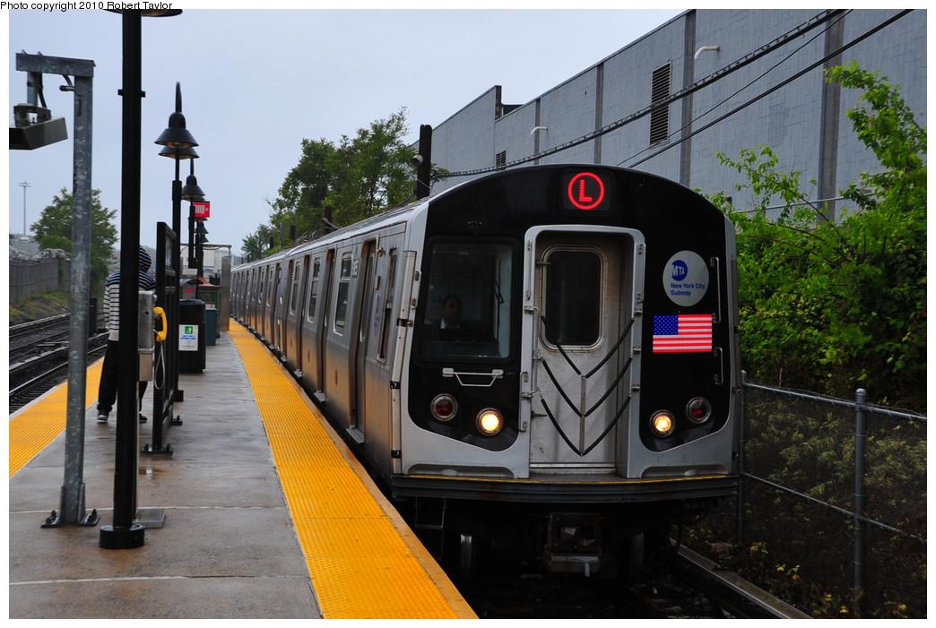 (267k, 1044x701)<br><b>Country:</b> United States<br><b>City:</b> New York<br><b>System:</b> New York City Transit<br><b>Line:</b> BMT Canarsie Line<br><b>Location:</b> East 105th Street <br><b>Route:</b> L<br><b>Car:</b> R-143 (Kawasaki, 2001-2002)  <br><b>Photo by:</b> Robert Taylor<br><b>Date:</b> 5/12/2010<br><b>Viewed (this week/total):</b> 0 / 1154