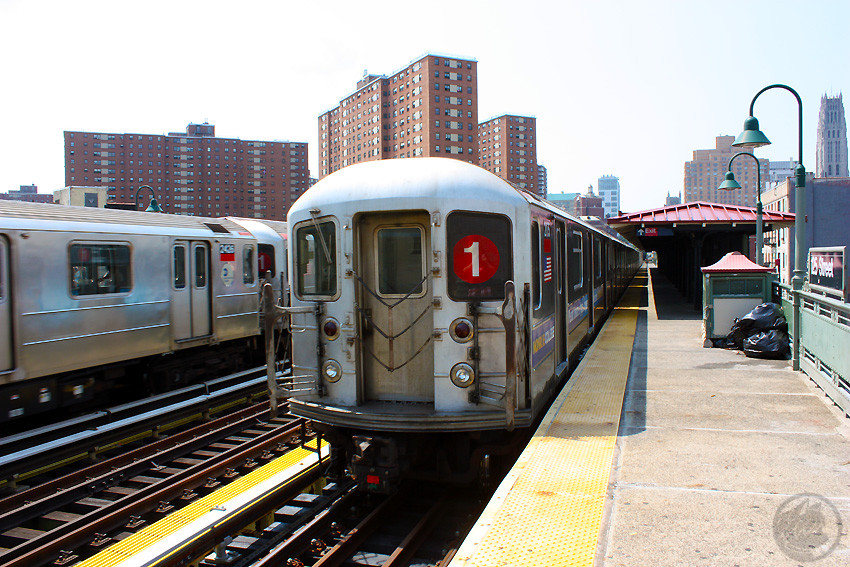 (249k, 850x567)<br><b>Country:</b> United States<br><b>City:</b> New York<br><b>System:</b> New York City Transit<br><b>Line:</b> IRT West Side Line<br><b>Location:</b> 125th Street <br><b>Route:</b> 1<br><b>Car:</b> R-62A (Bombardier, 1984-1987)  2175 <br><b>Photo by:</b> Jon Lebowitz<br><b>Date:</b> 8/8/2010<br><b>Viewed (this week/total):</b> 1 / 1169