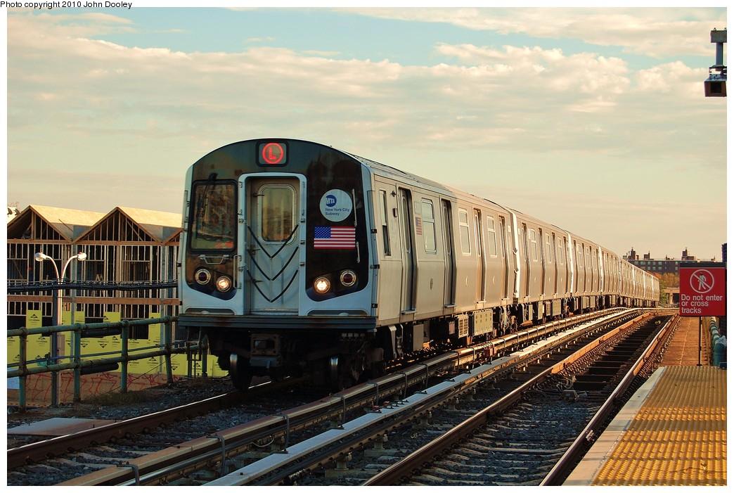 (257k, 1044x701)<br><b>Country:</b> United States<br><b>City:</b> New York<br><b>System:</b> New York City Transit<br><b>Line:</b> BMT Canarsie Line<br><b>Location:</b> Atlantic Avenue <br><b>Route:</b> L<br><b>Car:</b> R-143 (Kawasaki, 2001-2002) 8212 <br><b>Photo by:</b> John Dooley<br><b>Date:</b> 10/28/2010<br><b>Viewed (this week/total):</b> 1 / 990
