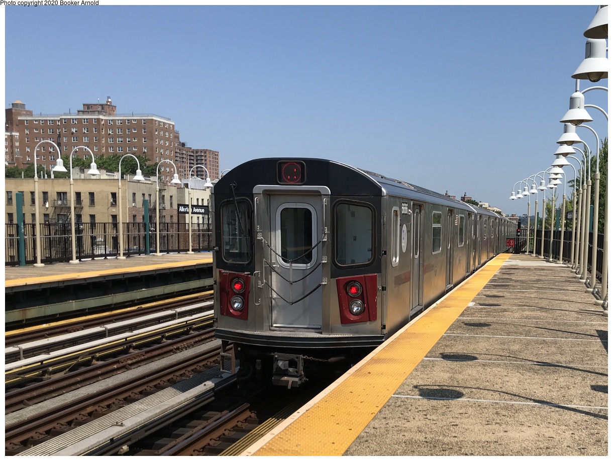 (420k, 1220x917)<br><b>Country:</b> United States<br><b>City:</b> New York<br><b>System:</b> New York City Transit<br><b>Line:</b> IRT White Plains Road Line<br><b>Location:</b> Allerton Avenue<br><b>Route:</b> 2<br><b>Car:</b> R-142 (Primary Order, Bombardier, 1999-2002) 6666 <br><b>Photo by:</b> Booker Arnold<br><b>Date:</b> 7/28/2019<br><b>Viewed (this week/total):</b> 12 / 38