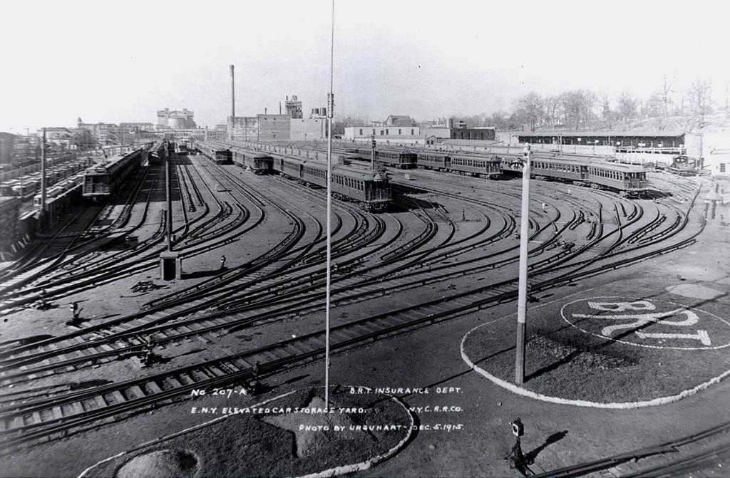 (217k, 1024x671)<br><b>Country:</b> United States<br><b>City:</b> New York<br><b>System:</b> New York City Transit<br><b>Location:</b> East New York Yard/Shops<br><b>Collection of:</b> George Conrad Collection<br><b>Date:</b> 12/5/1915<br><b>Viewed (this week/total):</b> 0 / 1422