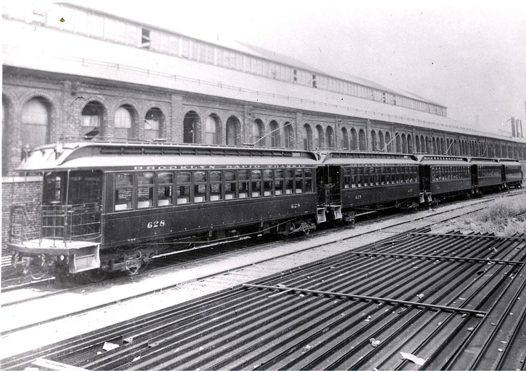(230k, 1024x722)<br><b>Country:</b> United States<br><b>City:</b> New York<br><b>System:</b> New York City Transit<br><b>Location:</b> 36th Street Yard<br><b>Car:</b> BMT Elevated Gate Car 628-629-630-631-632 <br><b>Collection of:</b> George Conrad Collection<br><b>Date:</b> 1905<br><b>Viewed (this week/total):</b> 2 / 1245