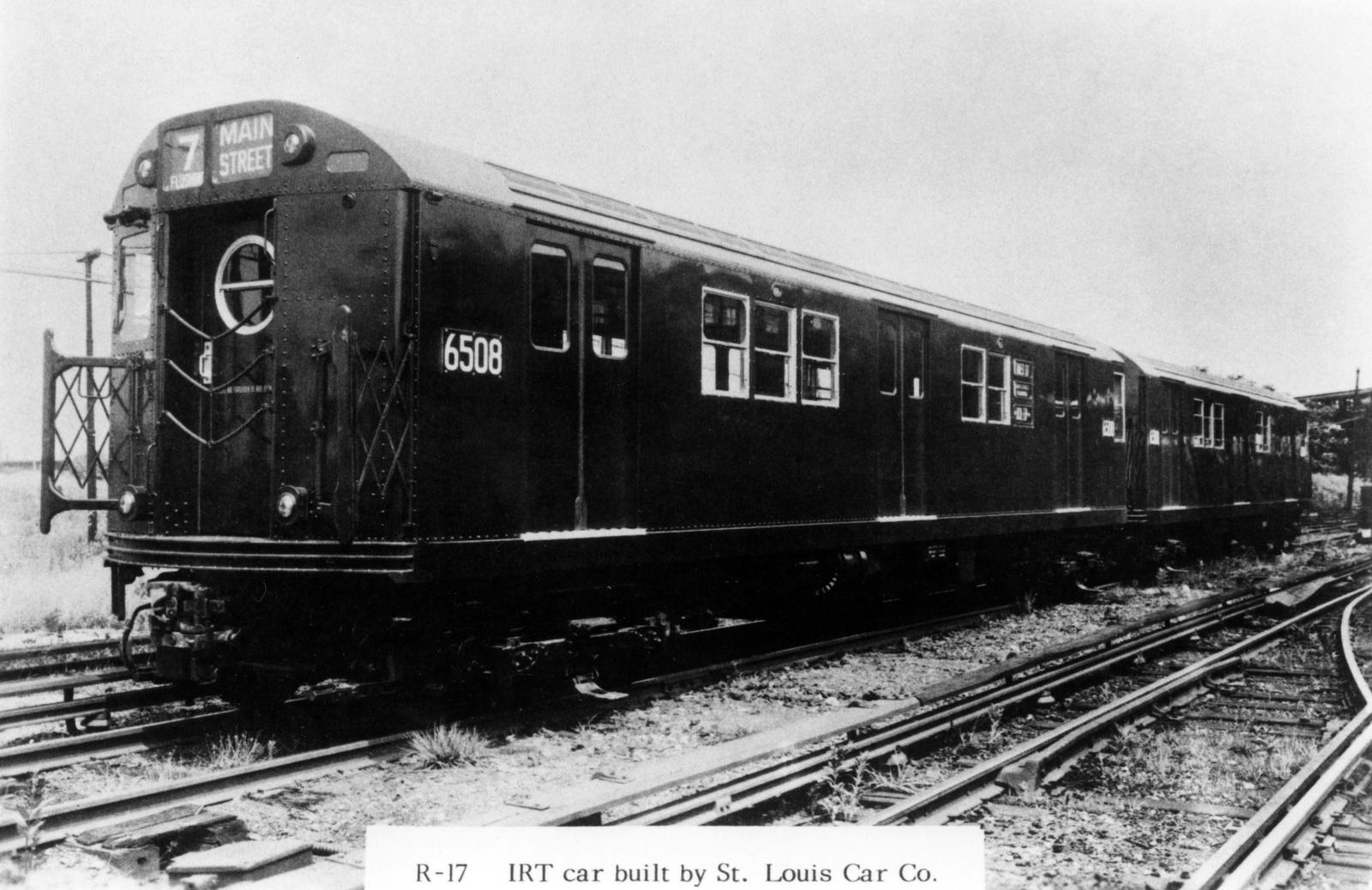 (188k, 1024x692)<br><b>Country:</b> United States<br><b>City:</b> New York<br><b>System:</b> New York City Transit<br><b>Location:</b> Westchester Yard<br><b>Car:</b> R-17 (St. Louis, 1955-56) 6508 <br><b>Collection of:</b> George Conrad Collection<br><b>Viewed (this week/total):</b> 4 / 887