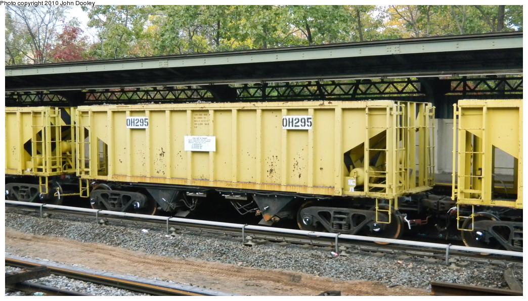 (284k, 1044x596)<br><b>Country:</b> United States<br><b>City:</b> New York<br><b>System:</b> New York City Transit<br><b>Line:</b> BMT Sea Beach Line<br><b>Location:</b> Fort Hamilton Parkway <br><b>Route:</b> Work Service<br><b>Car:</b> R-80 MoW Hopper (1983, Maxon)  295 <br><b>Photo by:</b> John Dooley<br><b>Date:</b> 11/7/2010<br><b>Viewed (this week/total):</b> 4 / 744