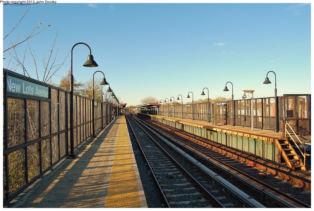 (294k, 1044x701)<br><b>Country:</b> United States<br><b>City:</b> New York<br><b>System:</b> New York City Transit<br><b>Line:</b> BMT Canarsie Line<br><b>Location:</b> New Lots Avenue <br><b>Photo by:</b> John Dooley<br><b>Date:</b> 10/28/2010<br><b>Viewed (this week/total):</b> 4 / 1016
