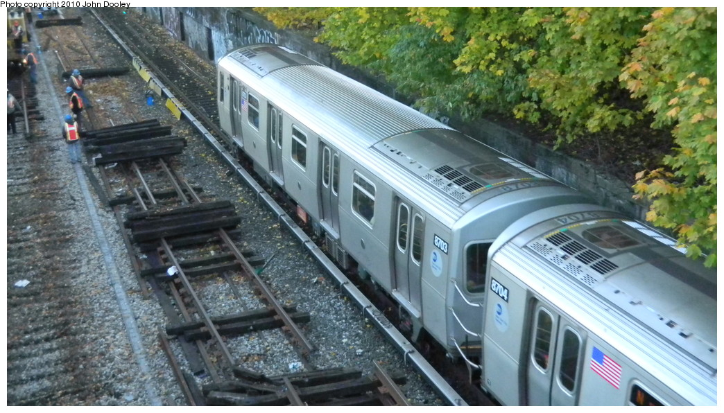 (269k, 1044x596)<br><b>Country:</b> United States<br><b>City:</b> New York<br><b>System:</b> New York City Transit<br><b>Line:</b> BMT Sea Beach Line<br><b>Location:</b> Fort Hamilton Parkway <br><b>Route:</b> N<br><b>Car:</b> R-160A-2 (Alstom, 2005-2008, 5 car sets)  8703 <br><b>Photo by:</b> John Dooley<br><b>Date:</b> 11/8/2010<br><b>Viewed (this week/total):</b> 3 / 1057
