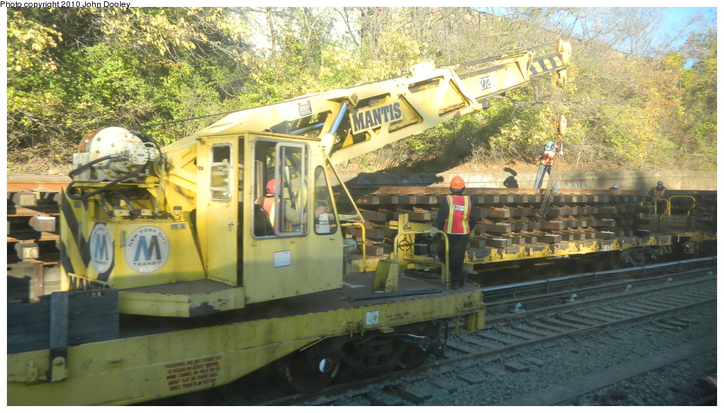 (283k, 1044x596)<br><b>Country:</b> United States<br><b>City:</b> New York<br><b>System:</b> New York City Transit<br><b>Line:</b> BMT Sea Beach Line<br><b>Location:</b> Fort Hamilton Parkway <br><b>Route:</b> Work Service<br><b>Car:</b> R-102 Crane Car  272 <br><b>Photo by:</b> John Dooley<br><b>Date:</b> 11/8/2010<br><b>Viewed (this week/total):</b> 0 / 930