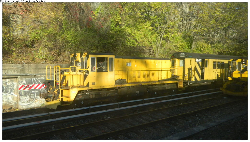 (274k, 1044x596)<br><b>Country:</b> United States<br><b>City:</b> New York<br><b>System:</b> New York City Transit<br><b>Line:</b> BMT Sea Beach Line<br><b>Location:</b> 8th Avenue <br><b>Route:</b> Work Service<br><b>Car:</b> R-47 Locomotive  65 <br><b>Photo by:</b> John Dooley<br><b>Date:</b> 11/8/2010<br><b>Viewed (this week/total):</b> 1 / 814