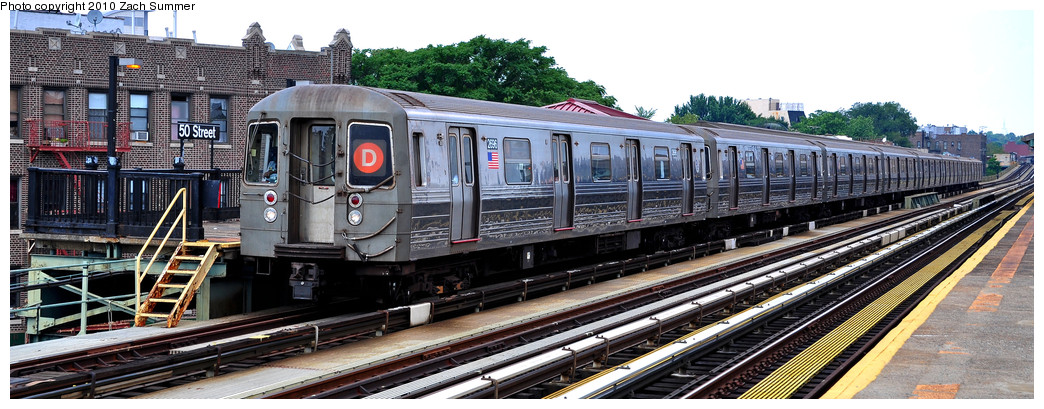 (219k, 1044x409)<br><b>Country:</b> United States<br><b>City:</b> New York<br><b>System:</b> New York City Transit<br><b>Line:</b> BMT West End Line<br><b>Location:</b> 50th Street <br><b>Route:</b> D<br><b>Car:</b> R-68 (Westinghouse-Amrail, 1986-1988)  2696 <br><b>Photo by:</b> Zach Summer<br><b>Date:</b> 7/6/2010<br><b>Viewed (this week/total):</b> 0 / 1057