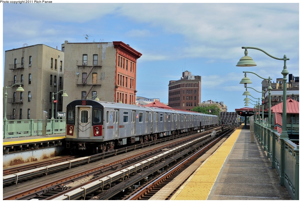 (288k, 1044x703)<br><b>Country:</b> United States<br><b>City:</b> New York<br><b>System:</b> New York City Transit<br><b>Line:</b> IRT White Plains Road Line<br><b>Location:</b> Simpson Street <br><b>Route:</b> 2<br><b>Car:</b> R-142 (Primary Order, Bombardier, 1999-2002)  6376 <br><b>Photo by:</b> Richard Panse<br><b>Date:</b> 9/11/2011<br><b>Viewed (this week/total):</b> 1 / 902