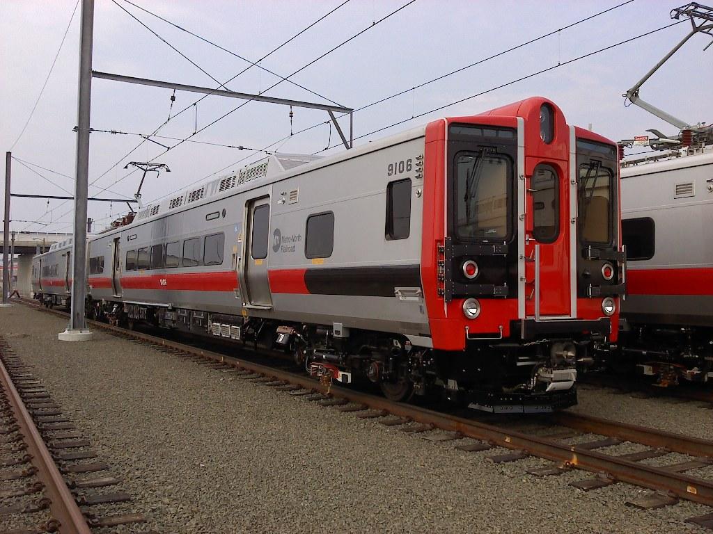 (230k, 1024x768)<br><b>Country:</b> United States<br><b>System:</b> Metro-North Railroad (or Amtrak or Predecessor RR)<br><b>Line:</b> Metro North-New Haven Line<br><b>Location:</b> New Haven Yard <br><b>Car:</b> MNRR M-8 9106 <br><b>Photo by:</b> Paul Pesante<br><b>Date:</b> 6/27/2010<br><b>Notes:</b> Kawasaki acceptance track.<br><b>Viewed (this week/total):</b> 1 / 1414