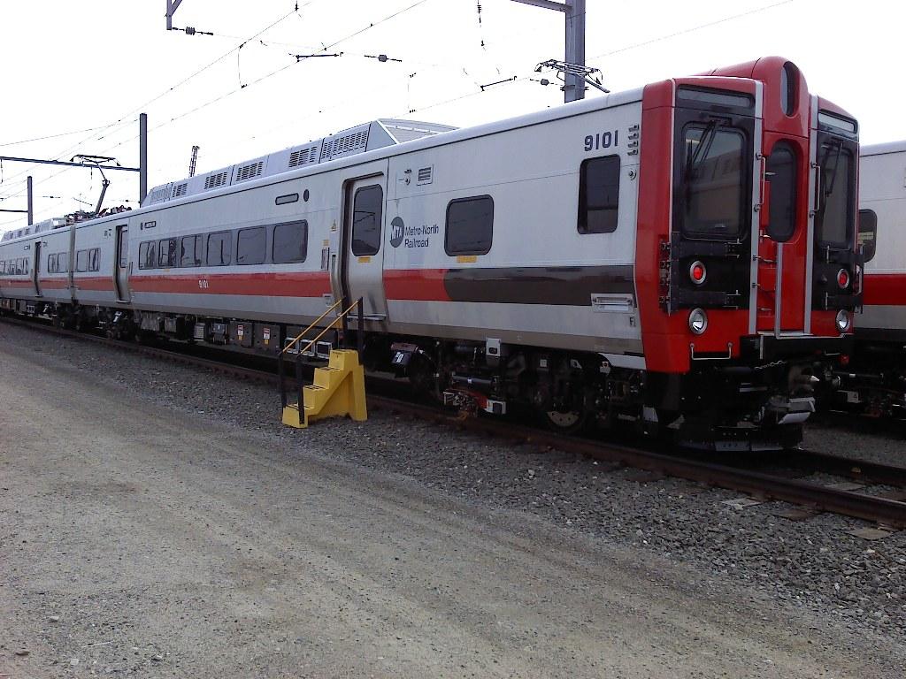 (222k, 1024x768)<br><b>Country:</b> United States<br><b>System:</b> Metro-North Railroad (or Amtrak or Predecessor RR)<br><b>Line:</b> Metro North-New Haven Line<br><b>Location:</b> New Haven Yard <br><b>Car:</b> MNRR M-8 9101 <br><b>Photo by:</b> Paul Pesante<br><b>Date:</b> 6/27/2010<br><b>Notes:</b> Kawasaki acceptance track.<br><b>Viewed (this week/total):</b> 1 / 1231