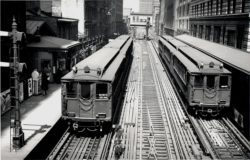 (229k, 1024x655)<br><b>Country:</b> United States<br><b>City:</b> New York<br><b>System:</b> New York City Transit<br><b>Line:</b> 9th Avenue El<br><b>Location:</b> Rector Street <br><b>Car:</b> MUDC  <br><b>Collection of:</b> George Conrad Collection<br><b>Viewed (this week/total):</b> 0 / 1933