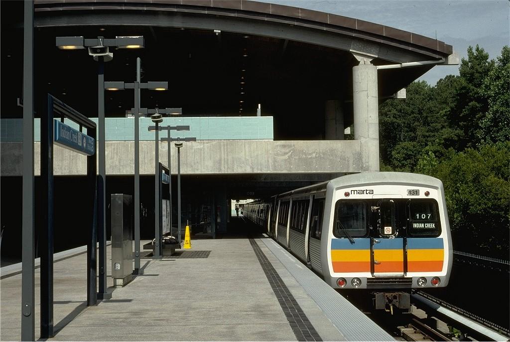 (205k, 1024x687)<br><b>Country:</b> United States<br><b>City:</b> Atlanta, GA<br><b>System:</b> MARTA<br><b>Line:</b> East-West Line <br><b>Location:</b> Indian Creek <br><b>Car:</b> MARTA CQ310 131 <br><b>Photo by:</b> Eric Oszustowicz<br><b>Collection of:</b> Joe Testagrose<br><b>Date:</b> 6/14/1999<br><b>Viewed (this week/total):</b> 0 / 705