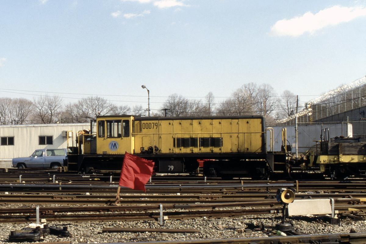 (288k, 1024x683)<br><b>Country:</b> United States<br><b>City:</b> New York<br><b>System:</b> New York City Transit<br><b>Location:</b> 36th Street Yard<br><b>Car:</b> R-52 Locomotive  79 <br><b>Collection of:</b> Collection of nycsubway.org <br><b>Notes:</b> 1980s<br><b>Viewed (this week/total):</b> 0 / 832