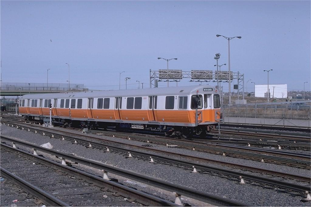 (203k, 1024x682)<br><b>Country:</b> United States<br><b>City:</b> Boston, MA<br><b>System:</b> MBTA<br><b>Line:</b> MBTA Orange Line<br><b>Location:</b> Wellington Yard <br><b>Car:</b> MBTA 01200 Series (Hawker-Siddley, 1980-1981)  01201 <br><b>Photo by:</b> Gerald H. Landau<br><b>Collection of:</b> Joe Testagrose<br><b>Date:</b> 3/1/1980<br><b>Viewed (this week/total):</b> 0 / 674