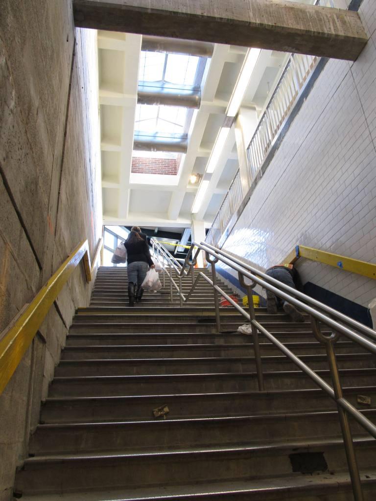 (104k, 768x1024)<br><b>Country:</b> United States<br><b>City:</b> New York<br><b>System:</b> New York City Transit<br><b>Line:</b> BMT Brighton Line<br><b>Location:</b> Neck Road <br><b>Photo by:</b> Robbie Rosenfeld<br><b>Date:</b> 11/9/2010<br><b>Notes:</b> Station renovation.<br><b>Viewed (this week/total):</b> 2 / 1003