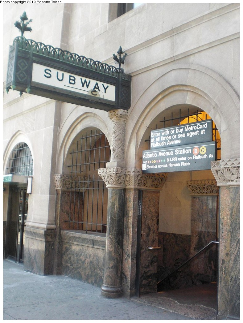 (253k, 788x1044)<br><b>Country:</b> United States<br><b>City:</b> New York<br><b>System:</b> New York City Transit<br><b>Line:</b> BMT Brighton Line<br><b>Location:</b> Atlantic Avenue <br><b>Photo by:</b> Roberto C. Tobar<br><b>Date:</b> 5/8/2010<br><b>Notes:</b> Station entrance to Brighton line.<br><b>Viewed (this week/total):</b> 6 / 1597