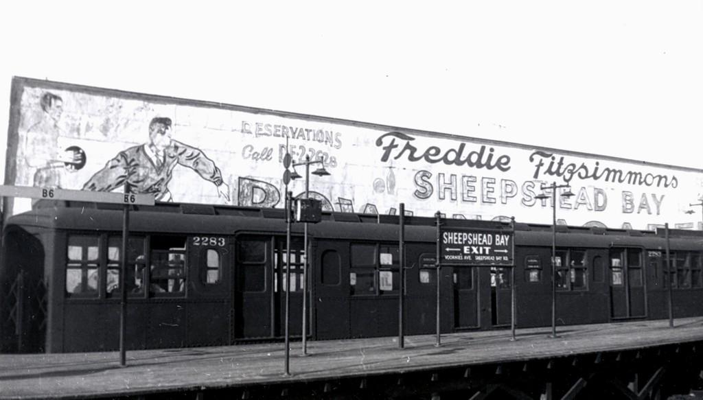 (105k, 1024x583)<br><b>Country:</b> United States<br><b>City:</b> New York<br><b>System:</b> New York City Transit<br><b>Line:</b> BMT Brighton Line<br><b>Location:</b> Sheepshead Bay <br><b>Car:</b> BMT A/B-Type Standard 2283 <br><b>Collection of:</b> George Conrad Collection<br><b>Date:</b> 11/12/1960<br><b>Viewed (this week/total):</b> 0 / 1755