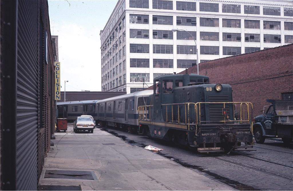 (209k, 1024x667)<br><b>Country:</b> United States<br><b>City:</b> New York<br><b>System:</b> New York City Transit<br><b>Line:</b> South Brooklyn Railway<br><b>Location:</b> Bush Terminal - 1st Ave & 41st (BTRR)<br><b>Car:</b>  88 <br><b>Photo by:</b> Steve Zabel<br><b>Collection of:</b> Joe Testagrose<br><b>Date:</b> 6/27/1977<br><b>Viewed (this week/total):</b> 0 / 1077