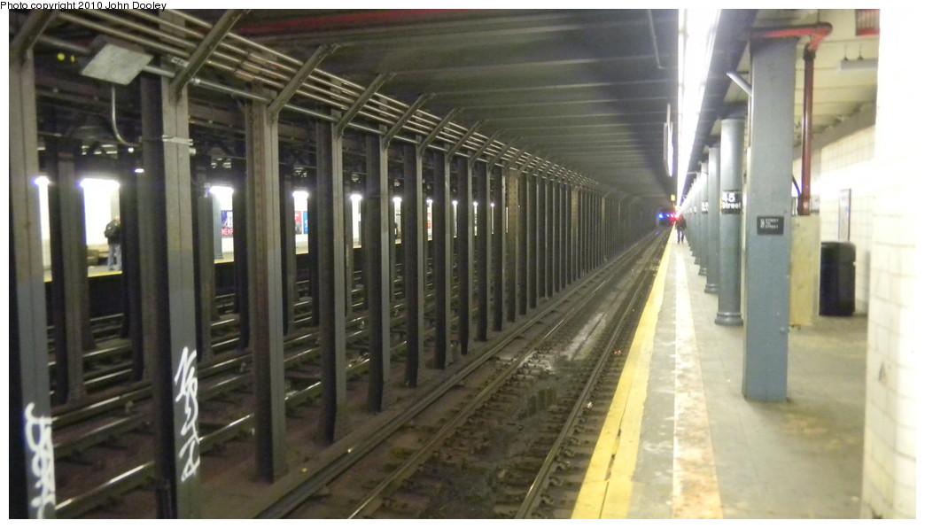 (198k, 1044x596)<br><b>Country:</b> United States<br><b>City:</b> New York<br><b>System:</b> New York City Transit<br><b>Line:</b> BMT 4th Avenue<br><b>Location:</b> 45th Street <br><b>Photo by:</b> John Dooley<br><b>Date:</b> 11/28/2010<br><b>Notes:</b> Platform view.<br><b>Viewed (this week/total):</b> 0 / 1377