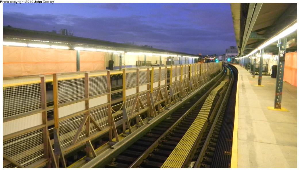 (233k, 1044x596)<br><b>Country:</b> United States<br><b>City:</b> New York<br><b>System:</b> New York City Transit<br><b>Line:</b> BMT West End Line<br><b>Location:</b> 55th Street <br><b>Photo by:</b> John Dooley<br><b>Date:</b> 11/28/2010<br><b>Notes:</b> Platform renovations.<br><b>Viewed (this week/total):</b> 0 / 802