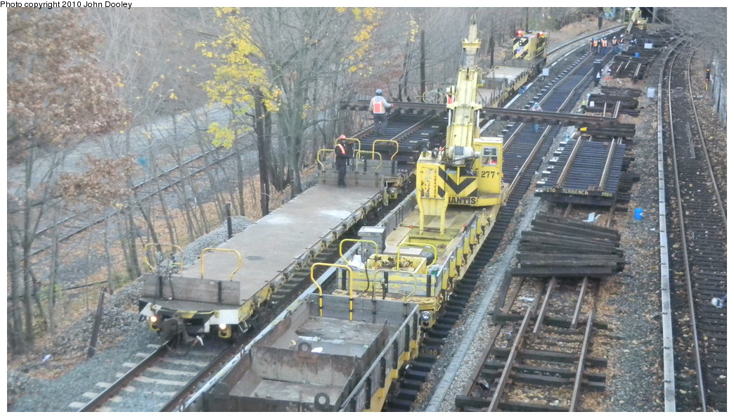 (275k, 1044x596)<br><b>Country:</b> United States<br><b>City:</b> New York<br><b>System:</b> New York City Transit<br><b>Line:</b> BMT Sea Beach Line<br><b>Location:</b> Fort Hamilton Parkway <br><b>Car:</b> R-102 Crane Car  277 <br><b>Photo by:</b> John Dooley<br><b>Date:</b> 11/28/2010<br><b>Viewed (this week/total):</b> 2 / 2686
