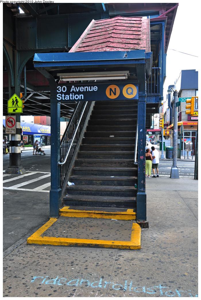(334k, 700x1044)<br><b>Country:</b> United States<br><b>City:</b> New York<br><b>System:</b> New York City Transit<br><b>Line:</b> BMT Astoria Line<br><b>Location:</b> 30th/Grand Aves. <br><b>Photo by:</b> Zach Summer<br><b>Date:</b> 7/7/2010<br><b>Notes:</b> Station entrance.<br><b>Viewed (this week/total):</b> 2 / 1609