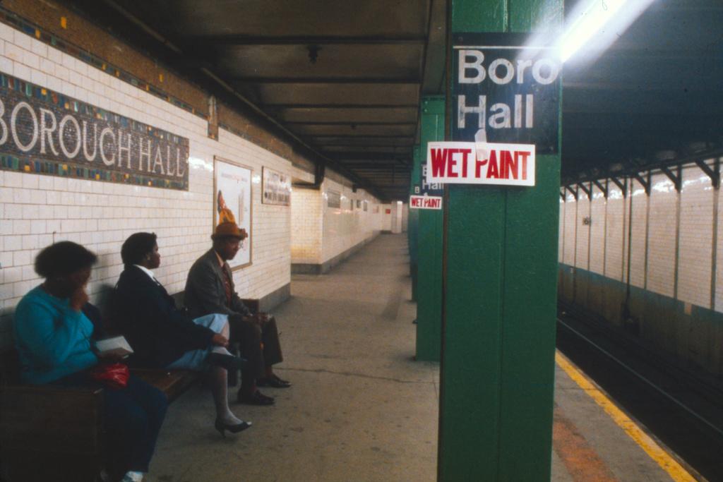 (243k, 1024x689)<br><b>Country:</b> United States<br><b>City:</b> New York<br><b>System:</b> New York City Transit<br><b>Line:</b> IRT Brooklyn Line<br><b>Location:</b> Borough Hall (West Side Branch) <br><b>Collection of:</b> Collection of nycsubway.org <br><b>Notes:</b> 1980s<br><b>Viewed (this week/total):</b> 2 / 1699