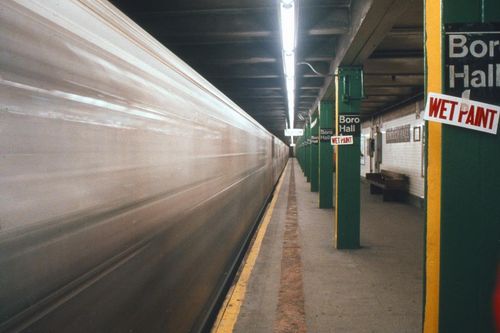 (225k, 1024x687)<br><b>Country:</b> United States<br><b>City:</b> New York<br><b>System:</b> New York City Transit<br><b>Line:</b> IRT Brooklyn Line<br><b>Location:</b> Borough Hall (West Side Branch) <br><b>Collection of:</b> Collection of nycsubway.org <br><b>Notes:</b> 1980s<br><b>Viewed (this week/total):</b> 1 / 1395