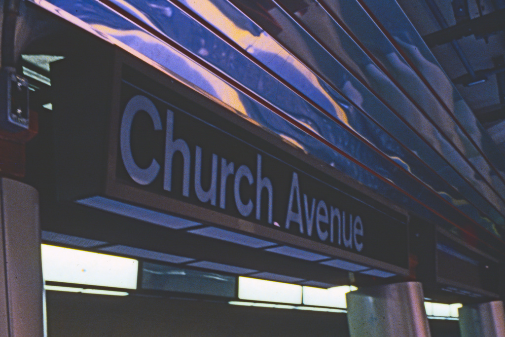 (235k, 1024x693)<br><b>Country:</b> United States<br><b>City:</b> New York<br><b>System:</b> New York City Transit<br><b>Line:</b> BMT Brighton Line<br><b>Location:</b> Church Avenue <br><b>Collection of:</b> Collection of nycsubway.org <br><b>Notes:</b> 1980s<br><b>Viewed (this week/total):</b> 4 / 1905