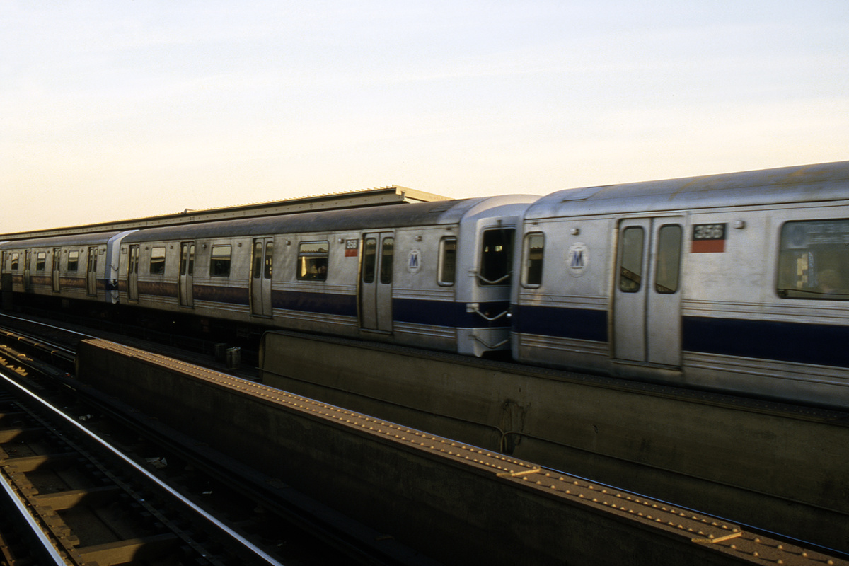 (278k, 1024x683)<br><b>Country:</b> United States<br><b>City:</b> New York<br><b>System:</b> New York City Transit<br><b>Line:</b> IND Fulton Street Line<br><b>Location:</b> Rockaway Boulevard <br><b>Route:</b> A<br><b>Car:</b> R-44 (St. Louis, 1971-73) 358 <br><b>Collection of:</b> Collection of nycsubway.org <br><b>Notes:</b> 1980s<br><b>Viewed (this week/total):</b> 0 / 1505