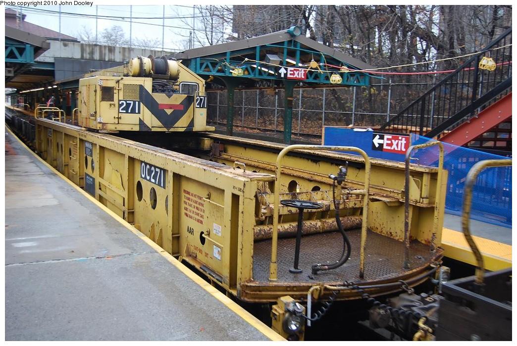 (284k, 1044x699)<br><b>Country:</b> United States<br><b>City:</b> New York<br><b>System:</b> New York City Transit<br><b>Line:</b> BMT West End Line<br><b>Location:</b> 9th Avenue <br><b>Route:</b> Work Service<br><b>Car:</b> R-113 Crane Car  271 <br><b>Photo by:</b> John Dooley<br><b>Date:</b> 12/12/2010<br><b>Viewed (this week/total):</b> 0 / 985