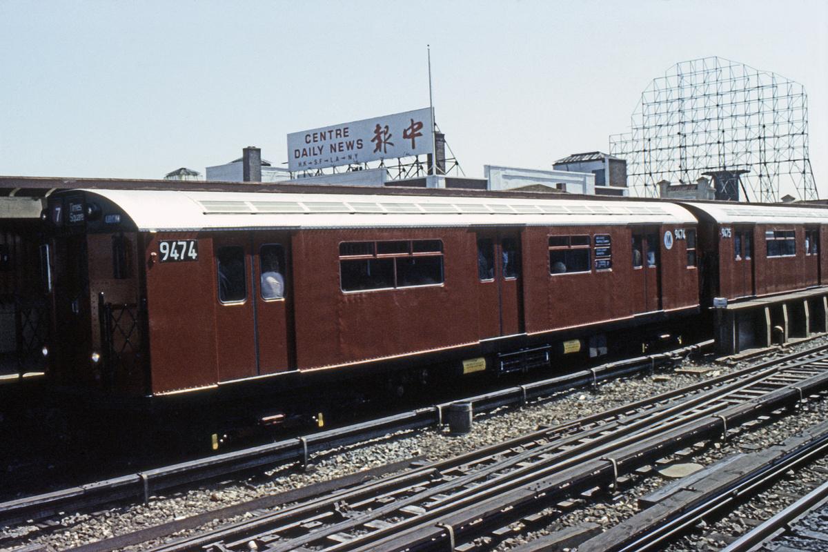 (493k, 1024x683)<br><b>Country:</b> United States<br><b>City:</b> New York<br><b>System:</b> New York City Transit<br><b>Line:</b> IRT Flushing Line<br><b>Location:</b> 33rd Street/Rawson Street <br><b>Route:</b> 7<br><b>Car:</b> R-36 World's Fair (St. Louis, 1963-64) 9474 <br><b>Collection of:</b> Collection of nycsubway.org <br><b>Notes:</b> 1980s.<br><b>Viewed (this week/total):</b> 0 / 1891