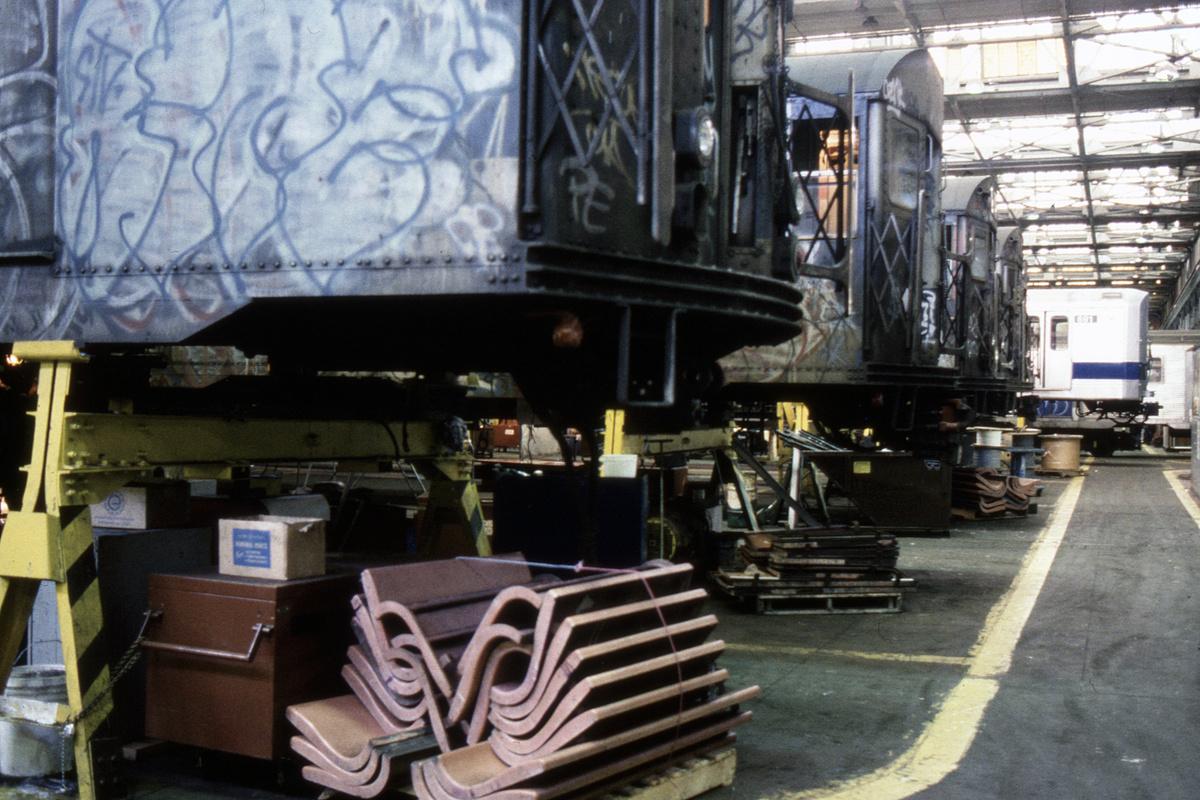 (444k, 1024x682)<br><b>Country:</b> United States<br><b>City:</b> New York<br><b>System:</b> New York City Transit<br><b>Location:</b> Coney Island Shop/Overhaul & Repair Shop<br><b>Car:</b> R-30 (St. Louis, 1961) 8332 <br><b>Collection of:</b> Collection of nycsubway.org <br><b>Notes:</b> 1980s<br><b>Viewed (this week/total):</b> 0 / 2146